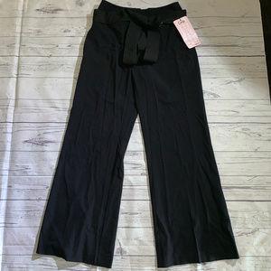 Cabi #644 Black High Rise Drama Pants Wide Leg Sz6